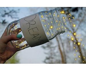 Dream, light, and jar image