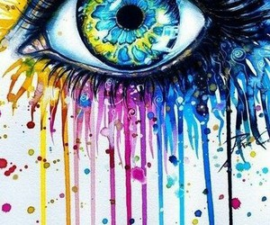 eye scetch colorful image