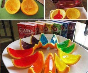 orange, food, and jello image