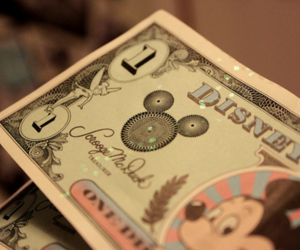 disney, money, and mickey mouse image