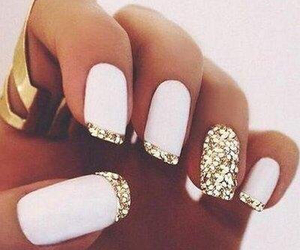gold, nails, and sparkle image