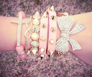accessories, lovely, and pink image