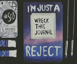 reject, wreck this journal, and 5sos image