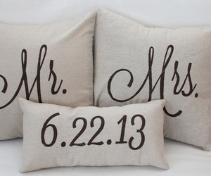 mr, pillow, and mrs image