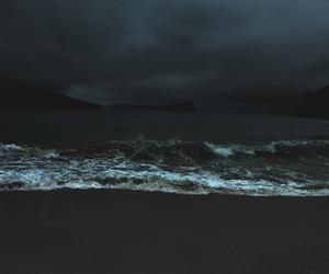 sea, dark, and ocean image