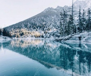 nature, winter, and lake image