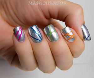 nail art, nails, and stripes image