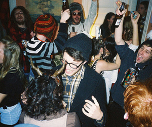 party, boy, and friends image