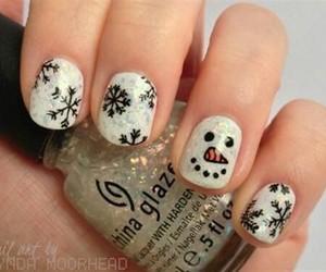 nails, christmas, and snowman image