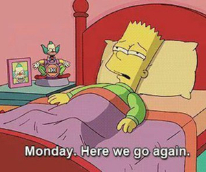 monday, simpsons, and bart image
