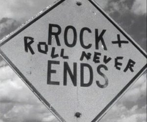 black and white, sign, and ends image