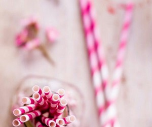 pink, prettypinkthings, and paper straws image