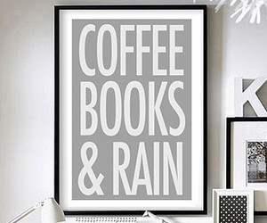 books, coffee, and rain image