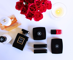 chanel, make up, and perfume image