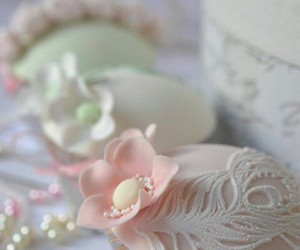 pink, prettypinkthings, and shabby chic bakery image
