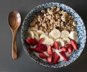 food, strawberry, and banana image