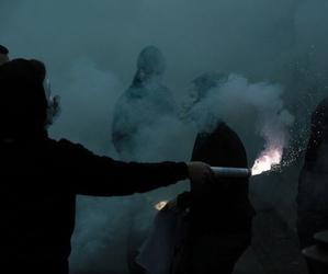 grunge, dark, and smoke image