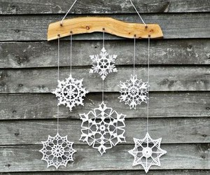 winter, snowflakes, and christmas image