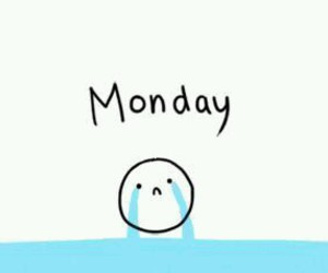 monday, school, and cry image