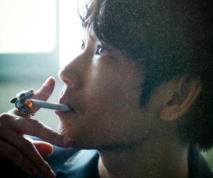 actor, asian, and cigarette image