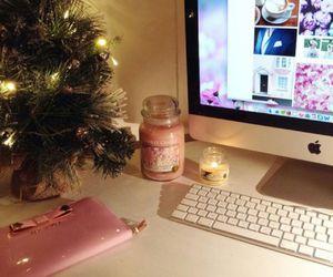 christmas, pink, and apple image