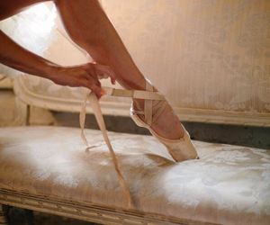 ballerina, dance, and lacing image