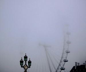 circus, wheel, and fog image