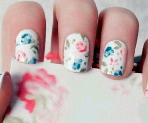 floral, nail polish, and nails image