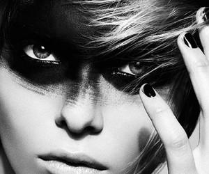 black and white and eyes image