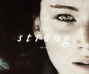 strong, hunger games, and catching fire image