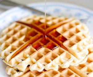 dessert, food, and waffles image