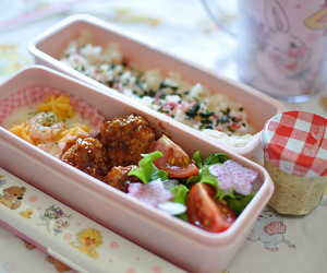 bento, lunch box, and cute food image