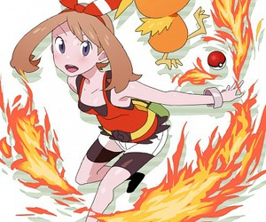 ember, pokeball, and pokemon image