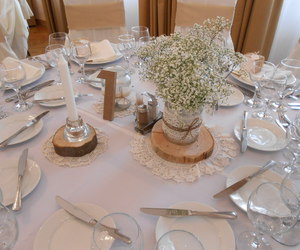 baby's breath, centerpiece, and decoration image