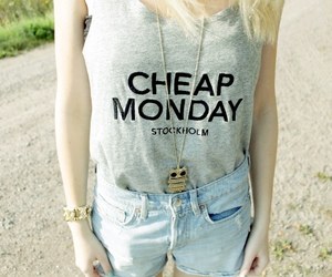 blonde, cheap monday, and fashion image