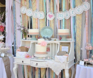 candy bar, diy, and wedding decoration image
