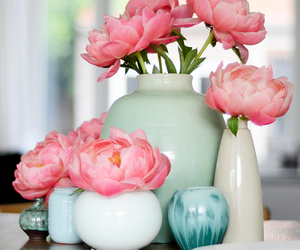 flowers, blue, and decor image