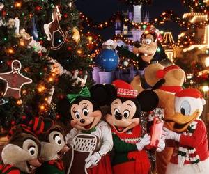 christmas, disney, and disneyland image