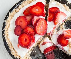 food, strawberry, and dessert image