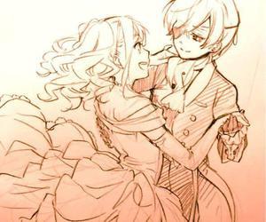 kuroshitsuji, ciel phantomhive, and couple image