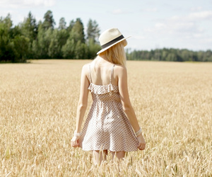 blonde, camp, and dress image