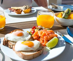 breakfast, food, and yum image