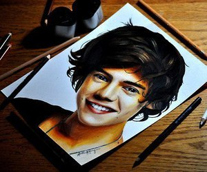 one direction, Harry Styles, and art image