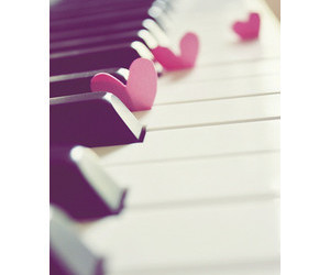 heart, music, and piano image