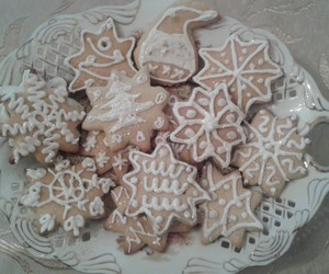 cake, Cookies, and snow image