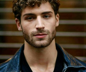model, curly, and hair image