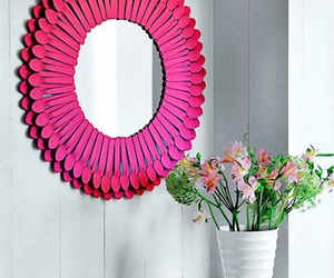 mirror, diy, and spoon image