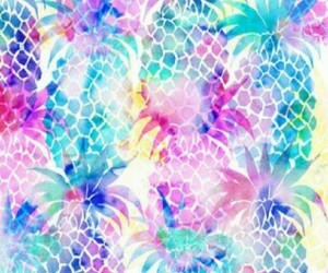 background, colorfull, and pineapple image