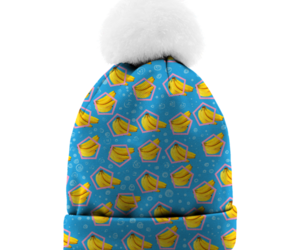 bananas, beanie, and fashion image