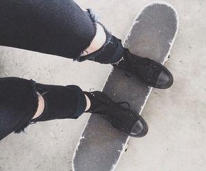 black, skateboard, and grunge image